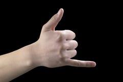 руки 2 жестов перстов Стоковое Фото