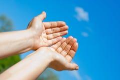руки 2 Стоковое Изображение