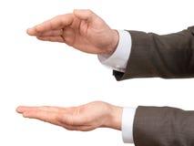 Руки Businessmans с большим пустым космосом Стоковое Изображение RF