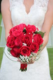 руки groom невесты букета bridal Стоковое Изображение RF