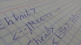 Руки HTML дальше Стоковое Изображение RF