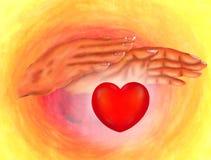 Руки Reiki бесплатная иллюстрация