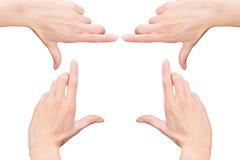 Руки ` s женщины как рамка Стоковое Фото