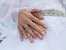 руки wedding Стоковая Фотография RF