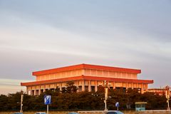 Руководитель Мао Дзе Дун мемориальный Hall, Пекин, Китай стоковая фотография rf