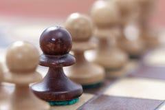 Руководство дела, концепция сыгранности Игра шахмат Стоковые Фотографии RF