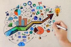 Руководство и концепция финансов Стоковые Изображения RF