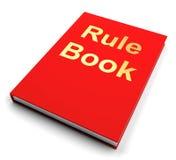 Руководство книги правила или направляющего выступа политики иллюстрация штока