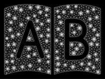 Руководство сетки пирофакела 2D с засветками экрана иллюстрация вектора