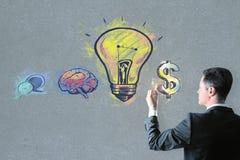 Руководство, успех и концепция денег Стоковые Фотографии RF