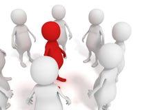 Руководитель группы принципиальной схемы в центре группы людей дела 3d Стоковая Фотография