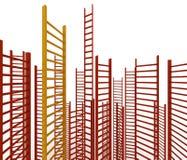 Руководитель лестницы, как идея концепции успеха и перманентности иллюстрация вектора