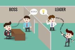 Руководитель или босс, шаблон иллюстрация вектора