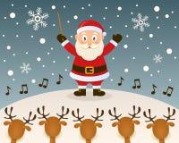Руководитель оркестра Санта Клауса бесплатная иллюстрация