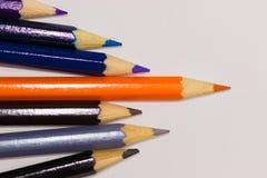 Руководство - покрашенные карандаши Стоковое фото RF