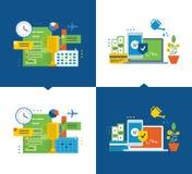 Руководство проектом, эффективность управления, управление, защита вкладов и оплаты иллюстрация штока