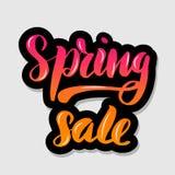 Рукописная помечая буквами продажа весны оформления иллюстрация штока