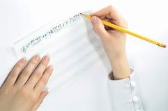 рукописное нот Стоковые Фотографии RF