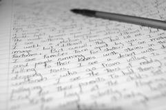 рукописное письмо Стоковая Фотография RF
