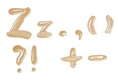 Рукописный изолированный алфавит акварели. стоковое изображение
