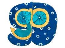 Рукописный идет литерность действия смешная красочная голубая желтая Стоковая Фотография