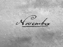 рукописный сбор винограда в ноябре Стоковая Фотография