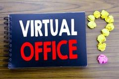 Рукописный текст показывая офис Сочинительство концепции дела для онлайн пути работы написанного на бумаге примечания блокнота, д Стоковая Фотография RF