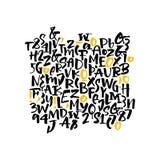 Рукописный шрифт Стоковые Изображения