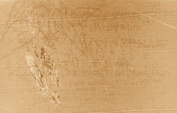 рукопись старая Стоковые Фотографии RF