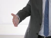 Рукопожатие бизнесмена 2 изолированного на белизне Стоковая Фотография RF