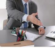 Рукопожатие бизнесмена 2 изолированного на белизне Стоковые Фотографии RF