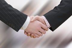 рукопожатие дела предпосылки расплывчатое сверх Стоковая Фотография RF