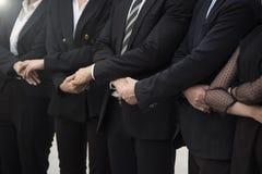 Рукопожатие делового партнера соединяет новый проект Единство группы сыгранности Стоковая Фотография