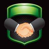 рукопожатие зеленого цвета дисплея дела Стоковые Фотографии RF