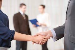 Рукопожатие на деловой встрече Стоковое Изображение RF