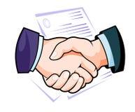Рукопожатие партнерства Стоковые Изображения