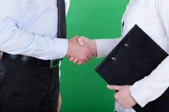 Рукопожатие перед деловой встречей Стоковая Фотография RF