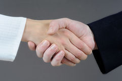 рукопожатие принципиальной схемы Стоковое Изображение RF