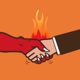 Рукопожатие с дьяволом Стоковое Изображение