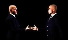 Рукопожатие 6 бизнесменов Стоковые Изображения RF