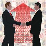 рукопожатие yuan стрелки бесплатная иллюстрация