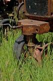 Рукоятка старого трактора Стоковое Фото
