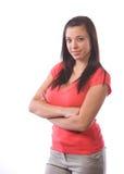 рукоятки пересекли женщину Стоковое Изображение RF