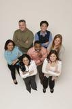 рукоятки пересекли разнообразную этническую группу Стоковое Изображение RF
