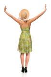 рукоятки подняли женщину Стоковые Фото