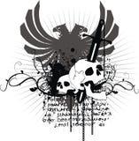 рукоятки покрывают heraldic Стоковое Изображение