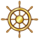 Рулевое колесо для иллюстрации вектора корабля Стоковое Изображение RF