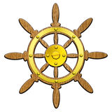 рулевое колесо корабля Стоковые Фотографии RF