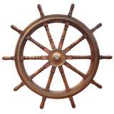 Рулевое колесо на белизне Стоковая Фотография RF