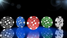 Рулетка, игра казино, королевские игры, значок, знак, самая лучшая иллюстрация 3D Стоковое Изображение RF